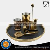 Hot sale China factory supplier Gold Plated bar cocktail bar set                                                                         Quality Choice