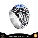 High Qulaity Fashion Stainless Steel Wide Ring 2016 Unique Designs Black Silver Ring Stainless Steel Men's Ring