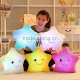 Decorative LED Pillow Luminous Star Shape Plush Pillow Glow Cushion Light Sofa For Children Birthday