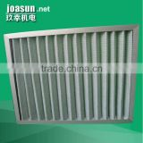 Aluminium Alloy Frame Primary Efficiency Pleated Panel Air Filter for central air-codition and clean room