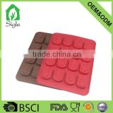 Cool 16 cavity fish shape silicone chocolate mould ice cube tray jello mold candy soap mold for party