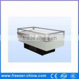 commercial island freezer deep freezer sea product food showcase air cooling for frozen food