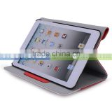 Slim Fit Multi Function Pu Leather Case with Built-in Stand and Card Holder for iPad Mini