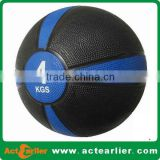 Crossfit Rubber Material fitness exercise ball Two Color Bouncing Medicine Ball