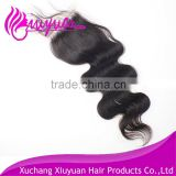 afro kinky curl human hair lace frontal piece 4*4 body wave lace closure