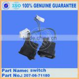 hydraulic excavator parts PC300-7 operator's cab CONSOLE, R.H. switch 207-06-71180 electrical switch