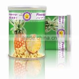 Freeze Dried Pineapple 40 g in paper tin can from Thailand certified HACCP , ISO 22000 , GMP, HALAL and KOSHER