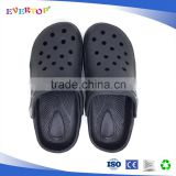 2017 cheap wholesale top basic simple design unisex solid color black children eva clogs sandals kid rubber clogs shoes