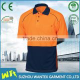 high quality polyester safety working shirt micro polyester shirt 100 polyester breathable work shirts