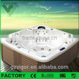 Factory High Quality Body spa massage bathtub hot tub Outdoor for 7 Person family Use