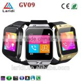2015 Newest Bluetooth SIM card GV09 smart watch phone 1.56 TFT 32GB TF Card smartwatch for android mobile phone