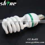 T2 7mm half spiral esl compact fluorescent lamps lighting bulb CE Rohs energy saving lamp