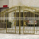 Modern security decorative steel fence gate