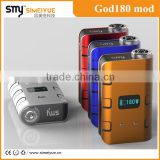 Oh my God! Smy newest product Big power 180W electronic cigarette God180 mod hot selling PK 100W ecig GI2 mod