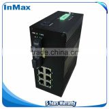 Managed network Switch, Layer 2 8 Port 100M Din-Rail IEC61850 Simple Optical fiber ethernet switch i608A
