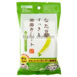 NATA Bean Teeth Whitening Polisher Wet Tissue Sheet Brightening and Deodorant Made in Japan