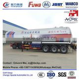 China lpg gas trailer 30 m3 propane transport trailers