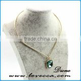 Elegant Statement Cheap Synthetic Gemstone Necklace