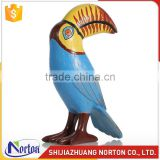 Life size colorful resin parrot sculpture for decoration NTRS-091LI