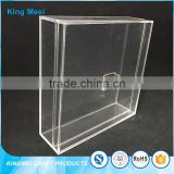 china factory custom acrylic cube storage boxes with lid