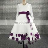 Fancy Real Sample Light Purple Color Little Princess Cinderella Flower Girl Dress Patterns
