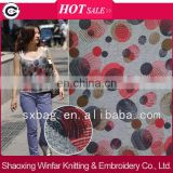 shaoxing winfar melange polyester spandex knitting custom printed fabric design for garment