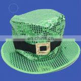 sequin jumbo leprechaun hat st.partick's day party hats carnival hats