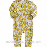 Baby Soft Cotton Romper Banana Printing Outfit for 0-24 Months