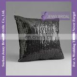 SQP009 cheap custom latest design black sequin cushion cover wholesale