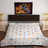 100% cotton contemporary style applique patch work designer of luxury bedsheet
