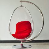 Transparent acrylic mercifully chair with stents chassis oval balcony chair