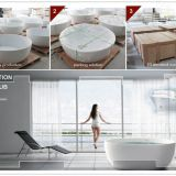high end solid surface bathtub from factory KKR
