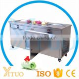 Thailand Commercial Fried Ice Cream Machine / Ice Cream Cold Plate Machine