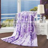 Factory outlet romantic purple 100%cotton terry soft towelling coverlet customized towelling coverlet