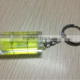 PMMA Square bubble level with key chain circular level vial,circular, square vial,Gradienter level bubbles