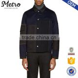Customised Mens Navy & Black Wool Button-up Jackets