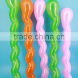 High Quality Long Twisting Screw Shaped Latex Balloon/Spiral Shape Ballon