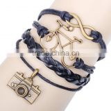 Fashion Bracelet, Camera And Bike Leather Bracelet, PT2164
