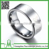 High quality tungsten silver men jewellery ring wholesale simple ring factory price