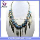 Latest design fashionable jewelry necklace wholesale cheap bib necklace products MDN0855