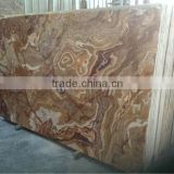 Cheap tiger flower brown onyx marble tile slab