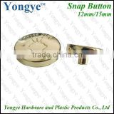 No sew gold snap button