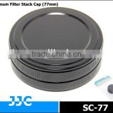 JJC SC-77 77mm Screw-in Metal Filter Stack Cap/Camera Filter case,protecting filters from dust and scratches