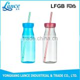 Transparent disposable custom printed baby milk bottle