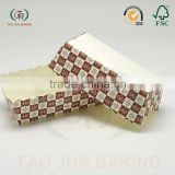 food grade paper rectangle shaped disposable cake baking cups cupcake liners lace edge cheese