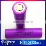 Enough Stock!lg hd2 18650 2000mah 35A rechargeable battery li ion battery for power tools