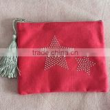 Canvas Small Pouch With Plastic Star