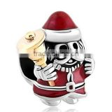 Christmas Charms Jingle Bell Santa Claus Gift Holiday Jewelry Beads fits european bracelet