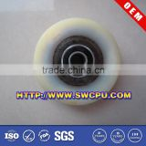 Drive bearing pulley for flat belt
