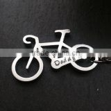 bicycle shape Fashionable hot Personalized Logo Aluminum Alloy Keychain Beer Bottle Openers